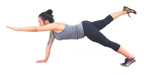 Bài tập plank giảm mỡ bụng dưới tư thế tấm ván