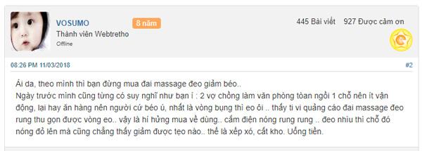 đai massage giảm mỡ bụng x5 sau sinh