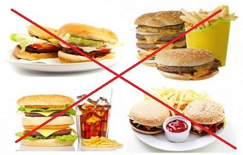 Cách ăn kiêng giảm mỡ bụng hạn chế một số thực phẩm