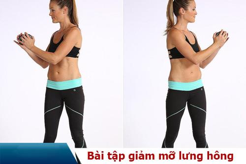 cách giảm mỡ lưng hông