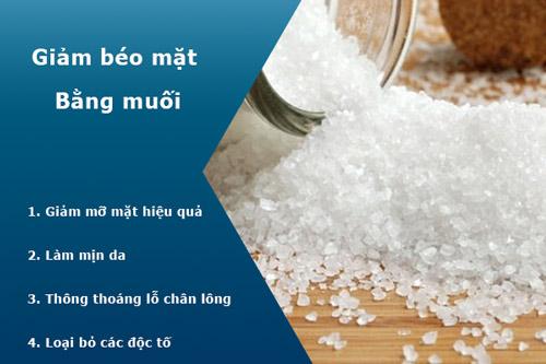 cách giảm béo mặt bằng muối
