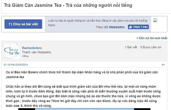 trà giảm cân jasmine tea có tốt không 2