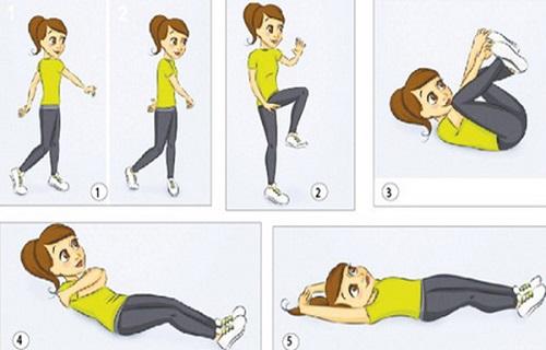 Hướng dẫn các bài tập thể dục buổi sáng giảm mỡ bụng hiệu quả trong 1 tuần