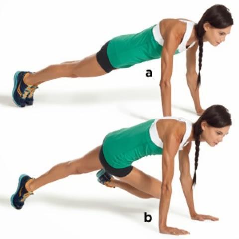 Bài tập thể dục buổi sáng leo núi chéo chân giảm mỡ bụng