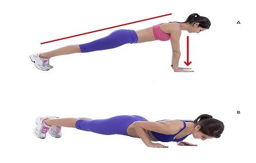 Bài tập giảm mỡ lưng cho nữ bằng chống đẩy