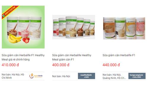 sữa giảm cân herbalife webtretho