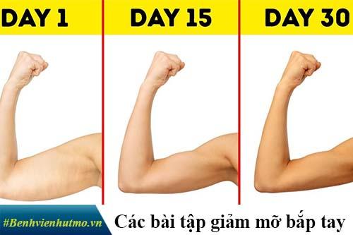 giảm mỡ bắp tay cấp tốc