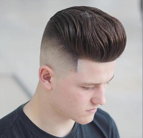 tóc nam đẹp cho mặt tròn 2018