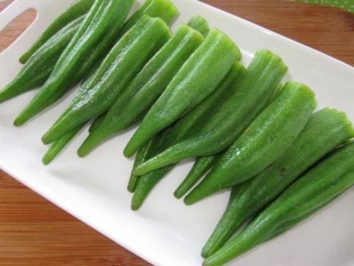 giảm cân bằng đậu bắp luộc