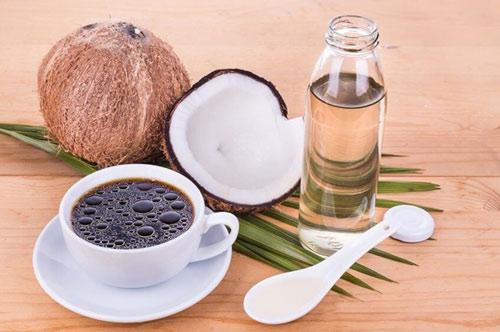 giảm cân bằng dầu dừa cà phê