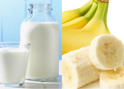 giảm cân bằng sữa tươi không đường và chuối