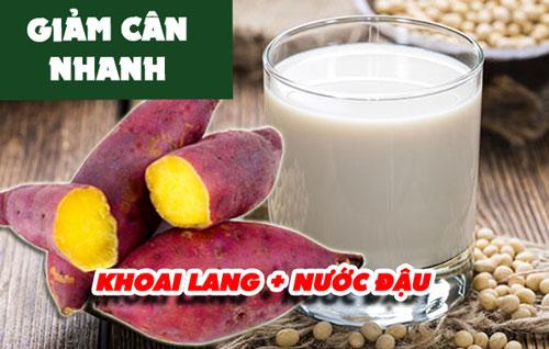 giảm cân với khoai lang và nước đậu