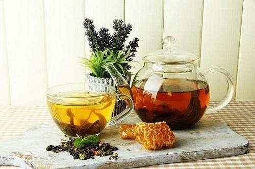 giảm mỡ mặt bằng mật ong trà xanh