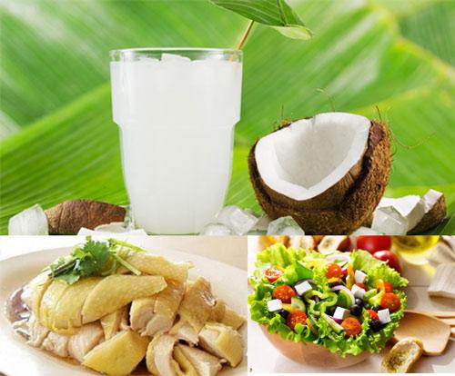 uống nước dừa có béo không