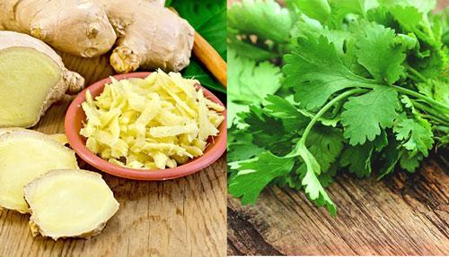 cách giảm cân bằng rau mùi